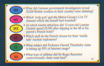 Harold in Trivial Pursuit